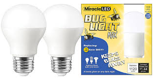 miracle led yellow bug light max replaces 100w a19 outdoor