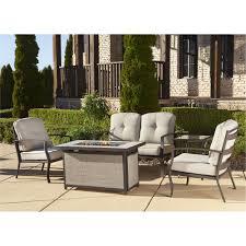 Patio Furniture Conversation Sets With Fire Pit cosco outdoor 5 piece serene ridge aluminum patio furniture