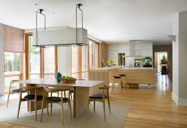 Boston Kitchen Scandinavian With Open Floor Plan Traditional Dining Room Tables4 Legged Tables
