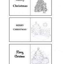 Christmas Tree Themed Gift Labels