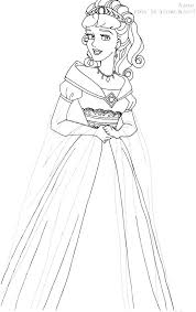Aurora Deluxe Gown Lineart By LadyAmber On DeviantArt