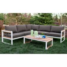 Outdoor Sectional Sofa Canada by Walker Edison Furniture Company 4 Piece Wood Outdoor Sectional