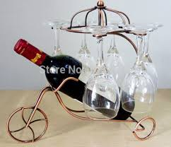Fashionable New Style Iron Wire Handicraft Hand Made Retro European Wine Holders Hanging Glasses Metal