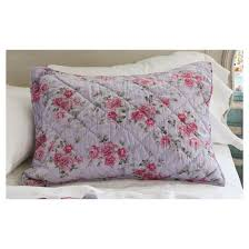Simply Shabby Chic Bedding by Purple Berry Rose Linen Blend Sham Simply Shabby Chic Target