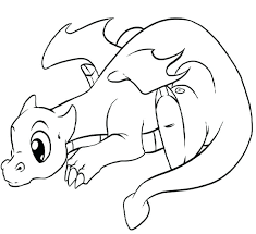 Kawaii Coloring Pages Free New Extraordinary In Unicorn Page With Hd Super Cute Animal Lonely Little Dragon Kids