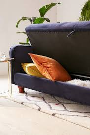 Ava Velvet Tufted Sleeper Sofa Uk by Adeline Storage Sleeper Sofa Urban Outfitters