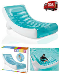 Pool Inflatable Chair Float Lounge Floating Raft Swimming Intex Lounger Water