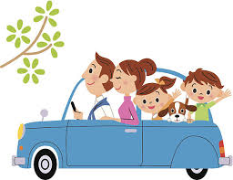I Go For A Drive In Families Vector Art Illustration Car Travel