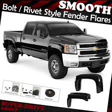 Pocket-Riveted Smooth Fender Flares For 07-14 Chevy Silverado 1500 ... Bushwacker Chevy Silverado 2004 Pocket Style Matte Black Fender For 9907 Silveradogmc Sierra Pickup 4pc Set Pockriveted Lund Rxrivet Flares 1415 1500 Rough Country Wrivets For 62018 Chevrolet Boltriveted 42018 Green With Dna Motoring 9906 Gmc Factory 4095602 Flare Oestyle Set Intertional Bushwacker Products F Rivet 59 Bed Length