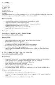 Lvn Resume Sample Foodcityme