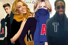 celebrities wearing matalan u0027s alphabet scarves mirror online
