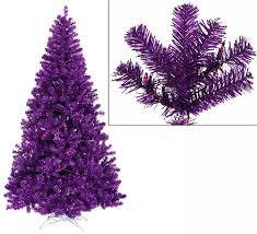 Buying A Purple Christmas Tree
