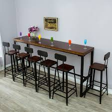 American Iron Solid Wood Bar Table And Chair Combination High