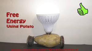 how to make free energy at home get electricity using potato