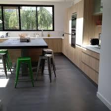 extension de maison cuisine sol béton ciré angers kitchen ideas