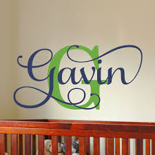 Boys Name Wall Decals Boys Name Decals Bedroom Nursery Wall Decor