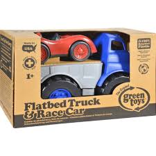 Green Toys Flatbed Truck With Race Car - FUNdamentally Toys Amazoncom Peterbilt Truck With Flatbed Trailer And 2 Farm Tractors 116th Big Farm John Deere Ram 3500 Dually Skidloader 5th Red Race Car Hot Wheels Crashin Big Rig Blue Shop Express 1100 Germany 1957 Hmkt Antique Cast Iron Toy Flatbed Truck 116 Model 367 Farmall Wood Toy Plans Semi Youtube Ertl New Holland T7030 Tractor Lego City 60017 Walmartcom Antique Vintage Dinky Toys Supertoys Foden Chains Intertional Durastar 4400 Flat Bed Tow