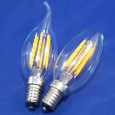 dimmable filament led bulbs e12 e14 e27 led candle l 2w 4w 6w