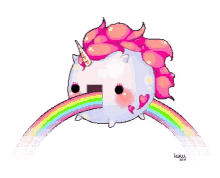 Unicorn Puke Rainbow GIFs