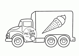 Fire Truck Coloring Pages Printable Ice Cream Truck Coloring Page ...