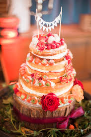 Naked Cake Layers Icing Fruit Bunting Topper Victoria Rustic Autumn Halloween Wedding