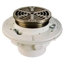 fd7 5r 2pvc 2 pvc adjustable floor drain 5 nickle bronze by
