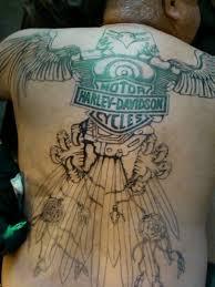 Harley Davidson Back Cover Up