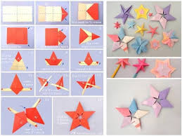DIY Origami Paper Star Tutorial Step By