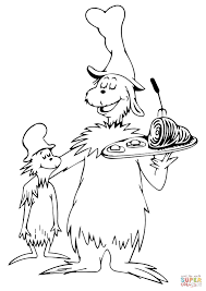 Green Eggs And Ham Coloring Page Throughout Pages