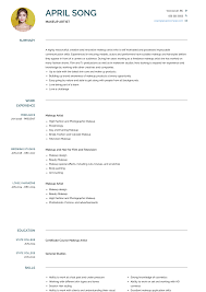 Makeup Artist - Resume Samples & Templates | VisualCV Makeup Artist Resume Sample Monstercom Production Samples Templates Visualcv Graphic Free For New 8 Template Examples For John Bull Job 10 Rumes Downloads Mac Why It Is Not The Best Time 13d Information Awesome Cv