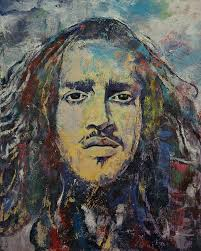 John Frusciante Curtains Zip by John Frusciante Painting By Michael Creese