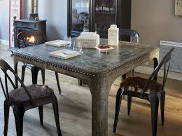 Dining Room Decorating Ideas Industrial Chic Metal Table