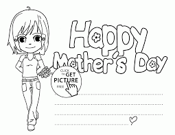 Download Free Mothers Day Coloring Cards To Color Large Size