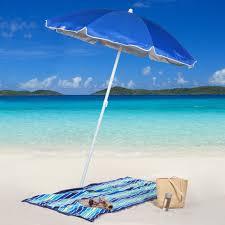 Walmart Patio Tilt Umbrellas by Rio 6 Ft Blue Sun Blocker Beach Umbrella Walmart Com