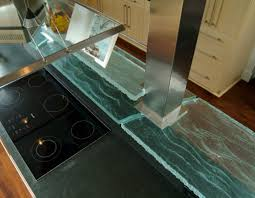 100 Countertop Glass Adds Class To This Kitchen Dig This Design