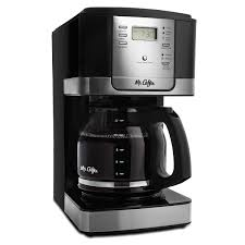 Mr Coffee Advanced Brew 12 Cup Programmable Maker Black Stainless Steel