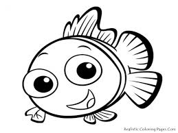 Cute Fish Coloring Pages For Kids