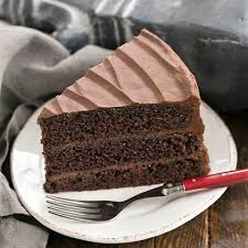 moist chocolate cake with chocolate buttercream frosting