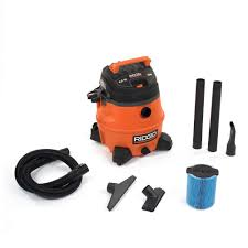 Husky Wet Tile Saw by Ridgid 14 Gal 6 0 Peak Hp Wet Dry Vac Wd1450 The Home Depot