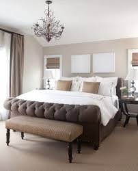 Dark Elegant Brown Bed With Soft Beige Wall Colors In Small Bedroom Decorating Design Ideas