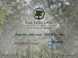 David Weekley Homes Floor Plans Nocatee by New Nocatee Neighborhood The Junction At Twenty Mile