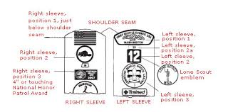 Cub Scout Committee Chair Patch Placement by Public New Scouts Boy Scout Troop 1299 Allen Texas