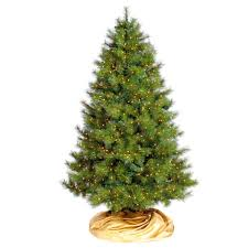 Virginia Pine Artificial Christmas Tree With Commercial Lights