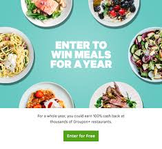 groupon cuisine groupon enter to win meals for a year 50 winners milled