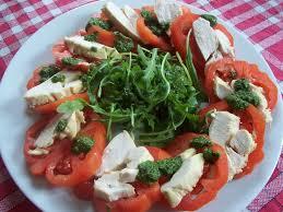 cuisine legere rosace de tomates et poulet aux herbes la cuisine légère d
