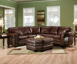 living room brown leather sectional sofa modern dark