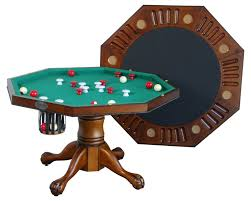 Dining Room Pool Table Combo by Berner Billiards 3 In 1 Table Octagon 48