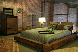 Industrial Chic Wood Platform Bed Industrial Bedroom Other