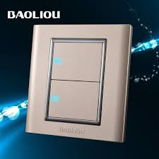 bao leo wall switch socket switch panel led light two point switch