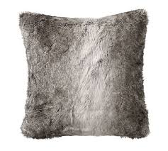 Pottery Barn Decorative Pillows by Faux Fur Pillow Cover Gray Ombre Potterybarn For The Home